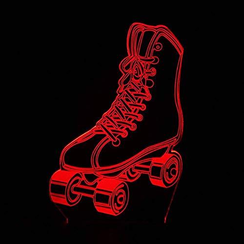 Nachtlicht 7 Farben Vision Nacht 3D Led Rollschuhe Nachtlichter Modellierung Tischlampe Usb Sport Fans Baby Schlaf Beleuchtung Decor