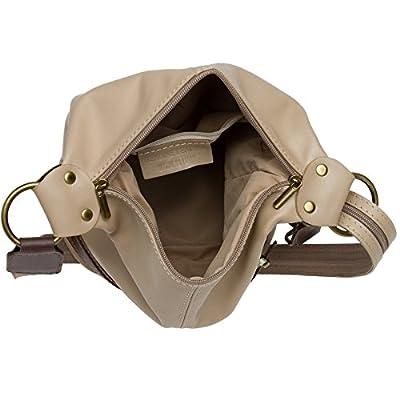 CASPAR TL721 Sac à main - Sac à dos 2 en 1 Daypack en cuir nappa souple