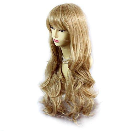 Sexy schöne Layered wellig Blond Mix Lange Damen Perücken Haut top Perücke UK 27H613