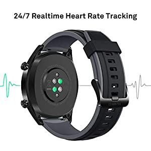 Huawei Watch GT Sport - Reloj (HUAWEI TruSleep, GPS, monitoreo del ritmo cardiaco) color negro