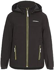 ICEPEAK Niños chaqueta Remi Jr, otoño/invierno, infantil, color negro, tamaño 128