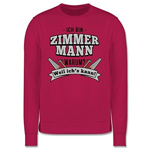 Handwerk - Ich bin Zimmermann - Herren Premium Pullover Fuchsia