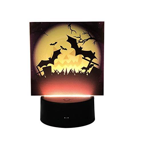 Myspace 2019 - Decorazione per Halloween e zucca, con piano di luci notturne s