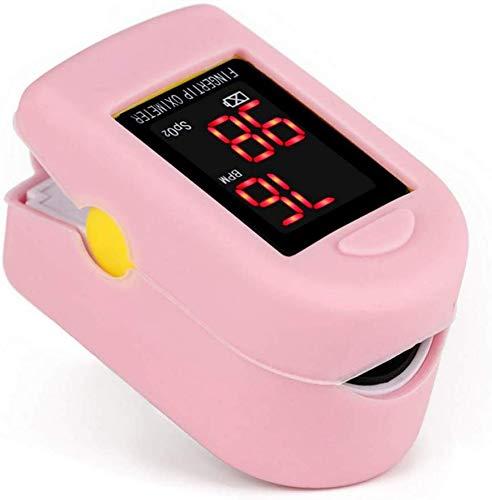Nfudishpu OLED Finger-Sauerstoffsättigungsmonitor-Analysator-Home-Fingeroximeter Inklusive Batterien und Lanyard, Pink
