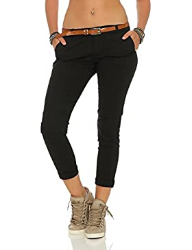 ZARMEXX estiran los pantalones flacos con la correa Chino-pantalones flacos de Jeggings de muchos colores