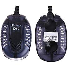 JAGETRADE Acuario Calentador Peces Tortuga Temperatura Mini Sumergible LED 50W