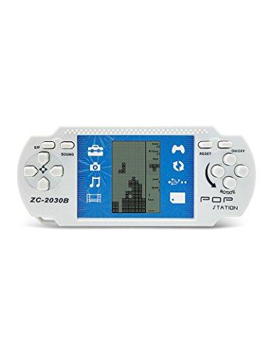 CZT Retro PSP Portable Tetris Handheld Tetris Kids Electronic Brick Juegos Juguetes Built-in 23 juegos 2 pilas AAA se utilizan por más de 1 mes buen regalo para los niños (White)
