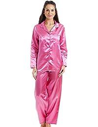 Pyjama long en satin - ROSE