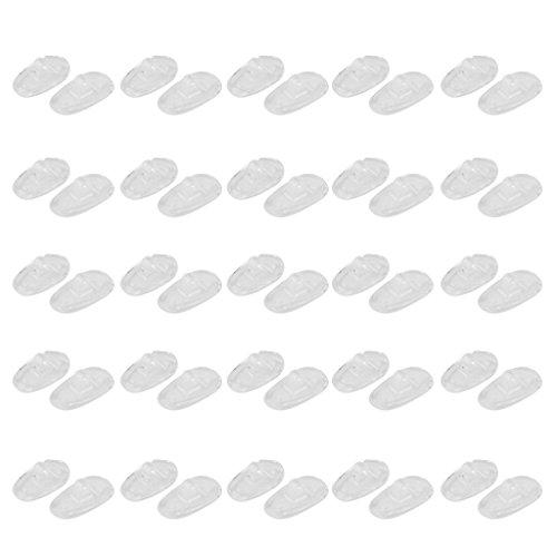 25 Paar S01 Schraube in Silikon Brillen Sunglass Nasenpads