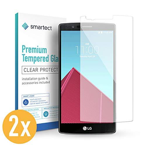 smartect Panzerglas für LG G4 [2 Stück] - Bildschirmschutz mit 9H Härte - Blasenfreie Schutzfolie - Anti Fingerprint Panzerglasfolie