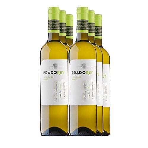 PRADOREY Sauvignong Blanc - Vino bianco - Vino spagnolo - Sauvignon Blanc - Vino della terra di Castiglia e León - Vendemmia notturna - Vinificazione con sistema Boreal - 6 bottiglie - 0,75 l
