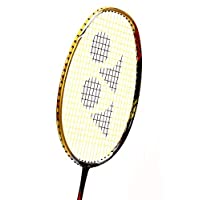 Yonex Badminton Racket VOLTRIC Series 2018-19 with Full Cover Professional Graphite Carbon Shaft Light Weight Competition Racquet High Tension Fast Speed Performance (VT200LD-Black/Gold)