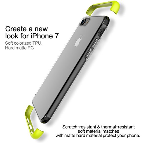 Cover Custodia For iPhone 7 plus.For iPhone 8 plus Case,ROCK [Youle] Anti-scratch Drop Protection Ultra Thin Slim Fit Dual Layered Heavy Duty Armor Hybrid Hard PC+Soft TPU Protective Shell Case for Ap Green