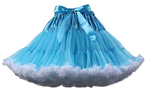 SCFL erwachsene luxuriöse weiche Chiffon Petticoat Tüll Tutu Rock Damen Tutu Kostüm Petticoat Ballett Tanz Multi-Layer Puffy (Halloween Gute Für Kostüme Tanz)
