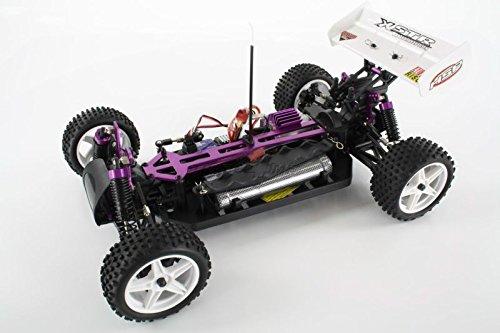 RC Auto kaufen Buggy Bild 3: HSP Buggy XSTR Rot 1:10 4WD RTR 94107/10704 | Fahrfertiges 1:10 Offroad RC-Car | 2.4 Ghz Sender | Ladegerät mit 0,8A Ladestrom | Fahrakku | Fahrtregler 45A | Allradantrieb | Länge ca. 370mm | Breite ca. 245mm | Höhe ca. 130mm | Radstand ca. 275mm*
