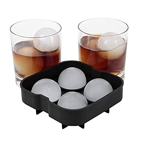 Iknowy Ice Ball Maker Plateau–Le meilleur pour Whiskey, Highball, Cocktail ou Verres à liqueur