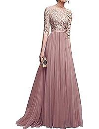 FidgetGear Women Delicate Chiffon Evening Dress Party Elegant Dresses Leisure Long Formal Dress