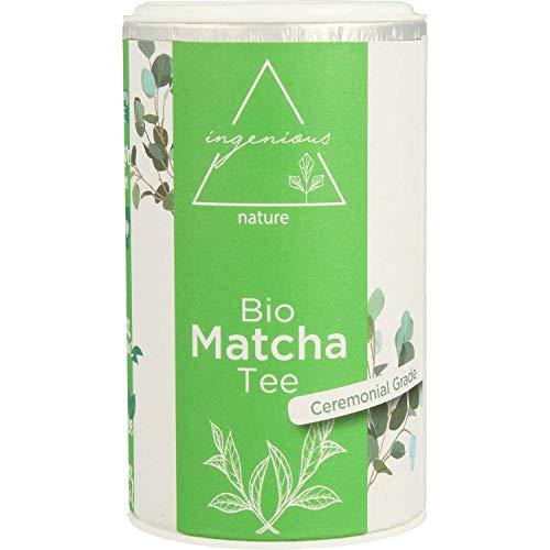 ingenious nature Bio Matcha Tee Pulver 60g - traditionell japanische ceremonial Qualität - reich an Koffein und Antioxidantien