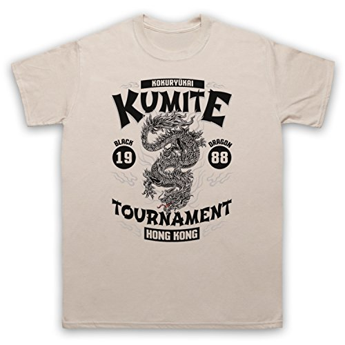 Bloodsport Kumite 1988 Black Dragon Tournament Herren T-Shirt Beige