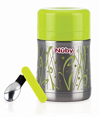 Nuby ID5470 Porta Vivande, Grigio, 450 ml