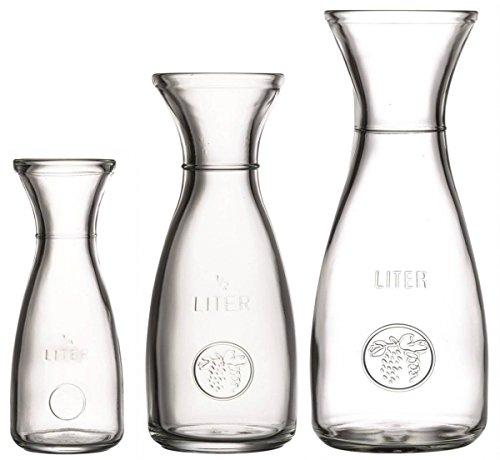 Glas Karaffe mit Eichring Größe 1,0 L