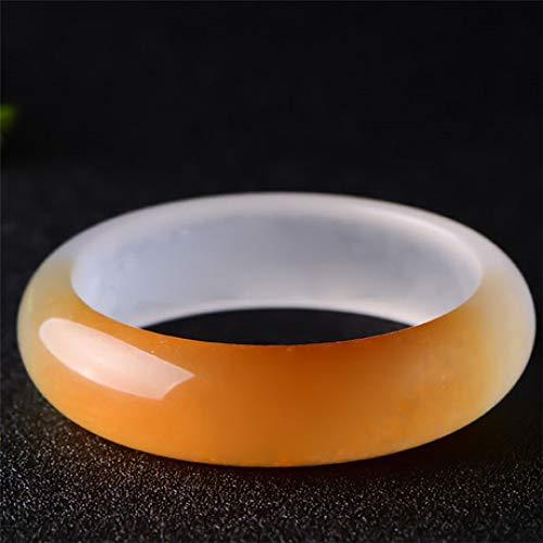 Aligeya Natürliche lila Yingyan Jade Armband Frauen halb rot und halb-weiß Jade Armband