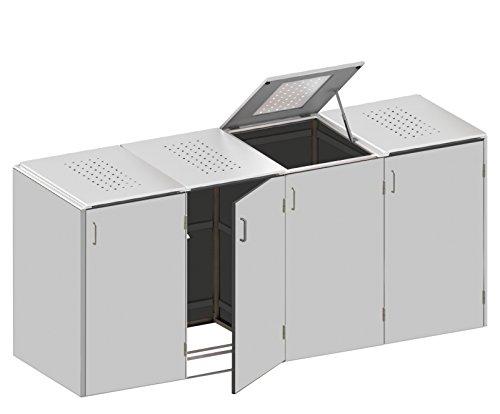 Mülltonnenbox inkl. Pflanzschalen