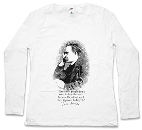 Friedrich Nietzsche Illusions Women Long Sleeve T-Shirt - Sizes XS - 2XL