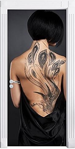 Sexy dragon Tattoo comme Mural, Format: 200x90cm, cadre de porte,