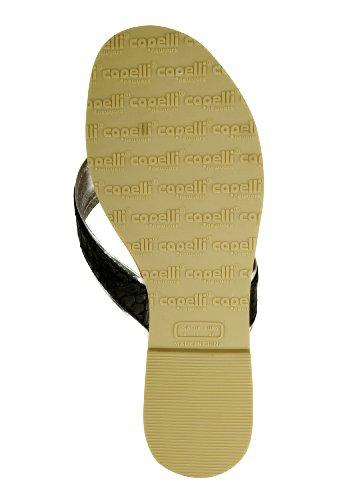Capelli New York Zehensandale 'Shiny Reptile' Black