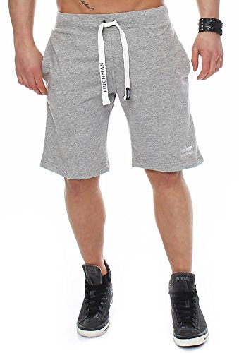 Finchman 91G2 Herren Cotton Sweat Short Kurze Hose Bermuda Grau M