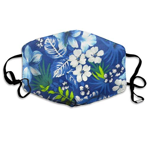 Daawqee Staubschutzmasken, Hawaiian Royal Blue Face Masks Breathable Dust Filter Masks Mouth Cover Masks Elastic Ear Loop (Kostüm Ghoul Kinder)