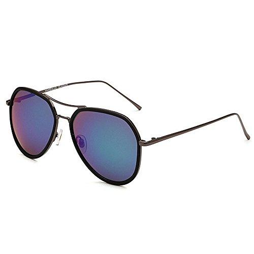 Klassische Männer Fahren Angeln Sonnenbrille Polarisierte Linse Full Metal Frame umrandeten UV Schutz Sonnenbrille Sport - Brille (Farbe : Grün)
