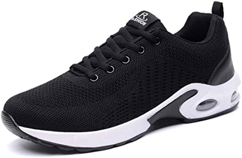 SEVENWELL Zapatos Flyknit Respirables con Estilo para Hombres Zapatos Deportivos Ligeros para Correr Zapatillas...