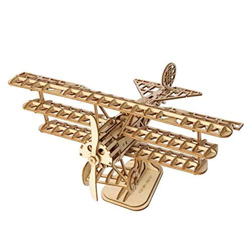 YDXH Holzhandwerk Baukasten Flugzeug 3D Holzpuzzle Kits DIY Spielzeug-Geschenk für Kinder, Jugendliche und Erwachsene handgemachte Geschenke für Flugzeug-Dekoration