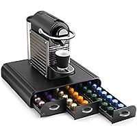 Cep Take a Break - Range-dosettes sous cafetière 3 tiroirs compatible Nespresso, Vertuo, Dolce Gusto et Special. T - Plastique - Noir - 34,2 x 32,7 x 6,9 cm