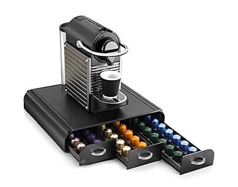 CEP Take a Break Range-dosette Plastique avec Poignée Chromée 3 Tiroirs Noir 34,2 x 32,7 x 6,9 cm