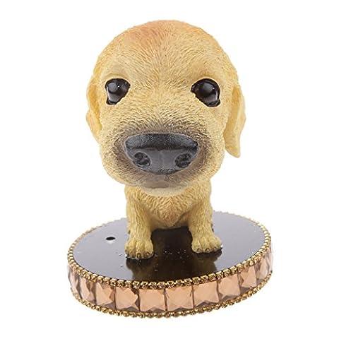 MagiDeal Perfume Seat Car Motor Decor Air Freshener Bobble Head Dog Golden Yellow #4
