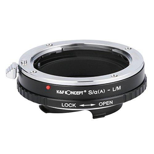 K&F Concept S/α(A)-L/M Objektivadapter Adapter Ring Objektiv Adapterring für Sony A-mount Minolta Konica Objektiv auf Leica M series/Leica CL/Minolta CLE Kamera Minolta M