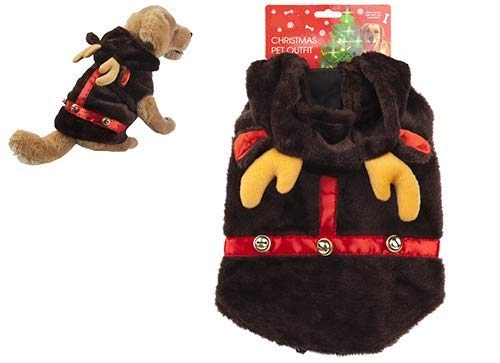Dress Up Französisch Kostüm - Toyland® Plüsch Rentier Pet Oufit - Pet Dress Up - Katzen & Hunde Weihnachts Outfits