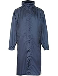 "Men's & Ladies Official Champion ""Storm"" Breathable Waterproof Long Coat in Navy (Large)"