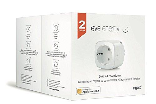 Elgato Eve Energy -Smarte Steckdose mit Verbrauchsmessung, Apple HomeKit-Unterstützung, Bluetooth Low Energy