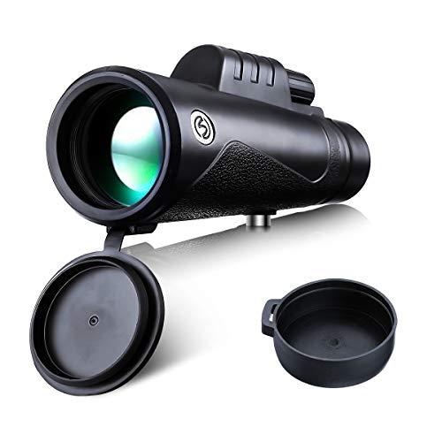 Monoculare 12 x 50, SGODDE Ad Alte Prestazioni HD Visione Notturna a Bassa Luminosità Impermeabile e Anti-appannamento Anti-nebbia 96m-1000m con Cinturino