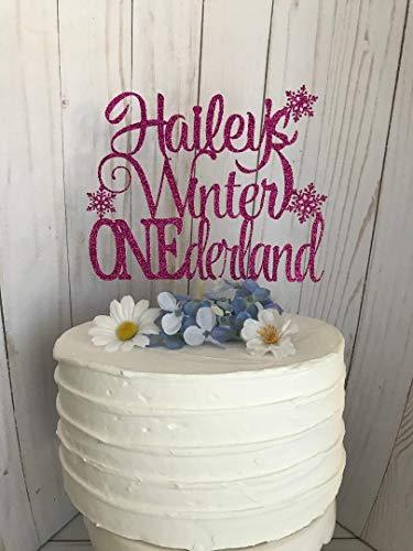 Claude6yhAly Beliebiger Name Winter Onederland Cake Topper benutzerdefinierte eine Schneeflocke Cake Topper erster Geburtstag Topper personalisierte Cake Topper Wonderland Cake