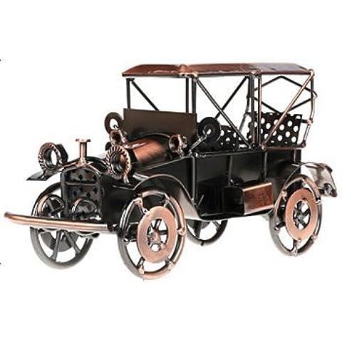 abura hecha a mano retro nostalgia Hierro Classic modelo de coche modelo de coche adorno para casa oficina decoración (bronce clásico modelo de