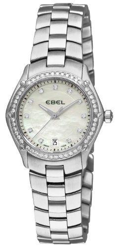 Ebel Classic Sport Stainless Steel & Diamond Womens Watch Date 9953Q24/99450