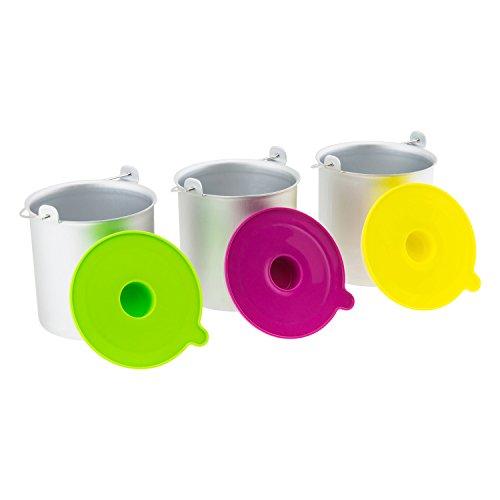 H.koenig bo318 set ciotole per gelateria hf180, 1l, 3 pezzi, acciaio inox