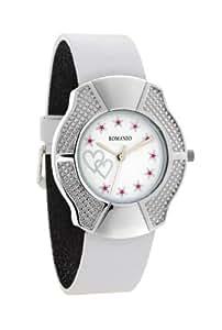 Romanio Analog White Sparkling Dial Women's Watch - L1501