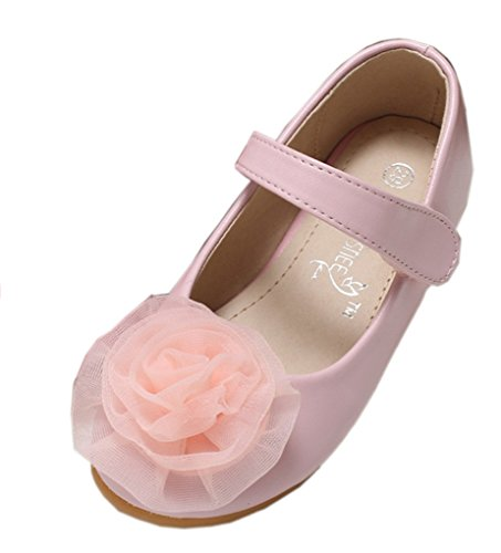 dern Niedliche Low-Top Rose Prinzessin SchuheMary Jane Ballerinas Pink 27 EU (Slipper Und Die Rose Kostüme)