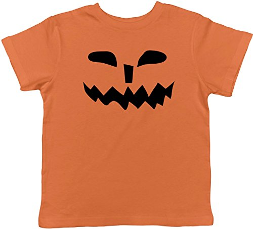Crazy Dog TShirts - Toddler Spikey Teeth Pumpkin Face Funny Fall Halloween Spooky T shirt (Orange) 3T - baby-jungen - (Witz Halloween Nette Kinder)